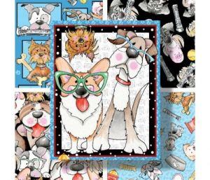 Dog Gone Fun - 9690P-70 Panel by Blank Quilting