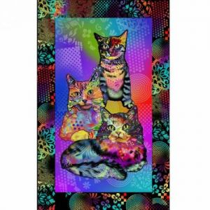Multi Crazy for Cats Panel - 10241-X