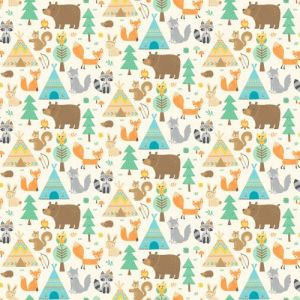 Teepee Time - Flannel - F31351-11